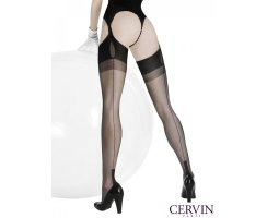 Cervin Havana Fully Fashioned Nylon Stockings black 2