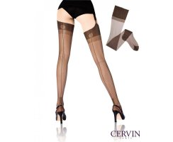 Cervin Havana Fully Fashioned Nylon Stockings brown 6